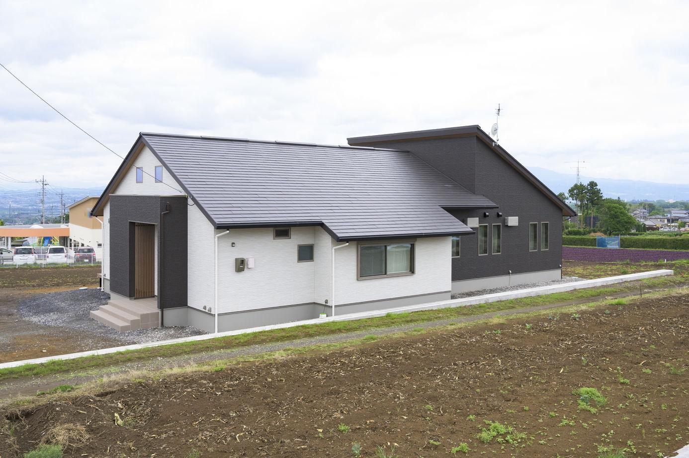 YUCACOシステムを搭載した、約55坪の家にルームエアコン2台で1年中快適な平屋の住まい